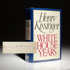 Signed first edition of White House Years by Henry A. Kissinger.