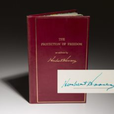The Protection of Freedom by Herbert Hoover. Signed limited edition.