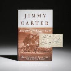 Sources of Strength by Jimmy Carter, signed first edition first printing.