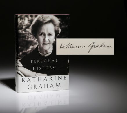 First edition of Personal History by Katherine Graham, signed copy.