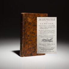 First French Edition of Histoire De La Russie by Mikhail Lomonosov.