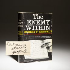 The Enemy Within, signed first edition by Robert F. Kennedy.