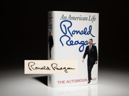 Reagan An American Life, first edition, first printing, signed copy.