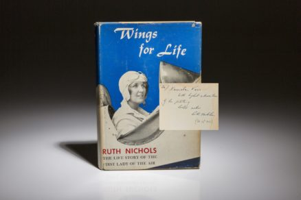 Wings for Life by Ruth Nichols, signed first edition.