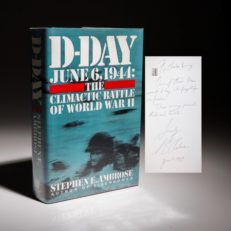 D-Day by Stephen Ambrose, a signed first edition.