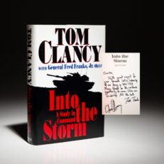Into the Story, signed by Tom Clancy.