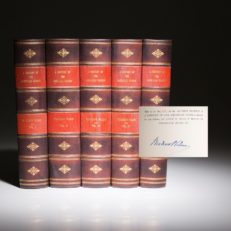 A History of the American People by Woodrow Wilson. The signed Alumni Edition.