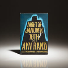 Ayn Rand Night of January 16th. First Edition