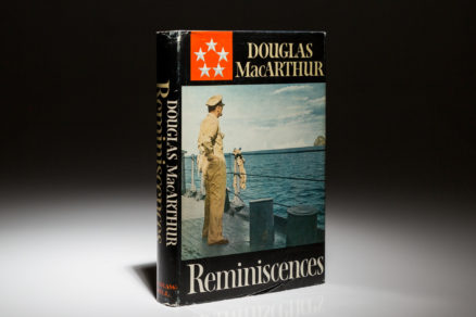 First edition of Reminiscences by General Douglas MacArthur.