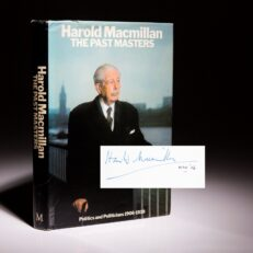 Signed copy of The Past Masters by Prime Minister Harold Macmillan.