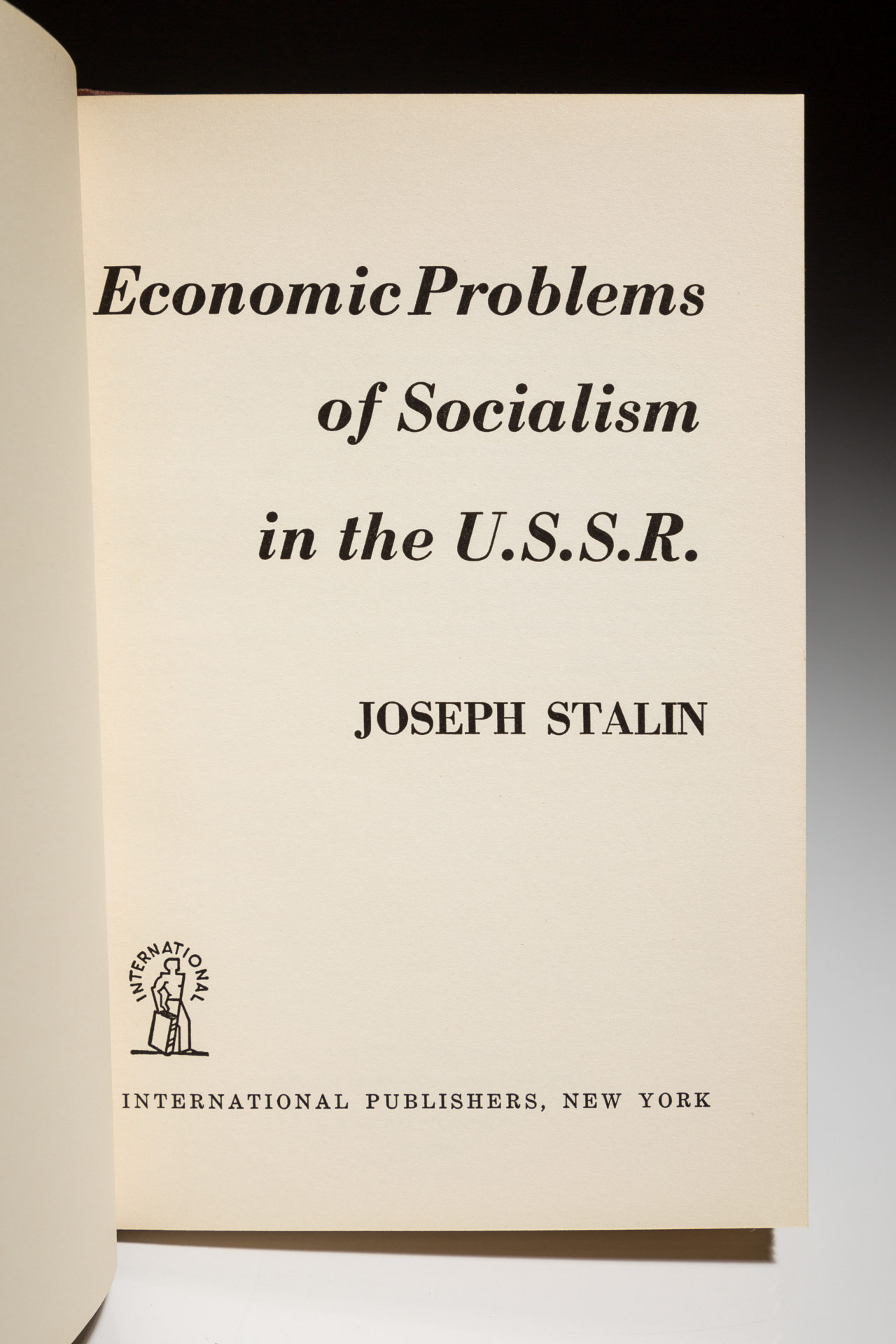 Economic Problems Of Socialism In The U S S R The First Edition Rare Books