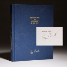 Signed limited edition of Read My Lips: No New Taxes by President George H.W. Bush.