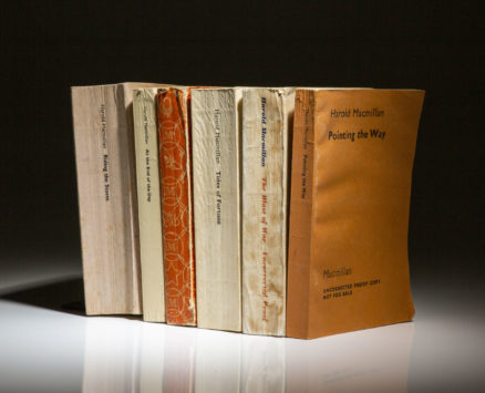 Complete six-volume set of The Memoirs of Harold Macmillan, all proof copies from Macmillan Publishing.