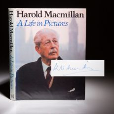 First edition of A Life In Pictures, signed by former British Prime Minister Harold Macmillan.