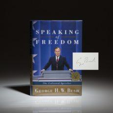 George Bush Speaking of Freedom