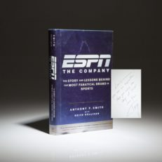 First edition of ESPN The Company by Anthony Smith, inscribed to WWII hero and Olympic star Louis Zamperini.