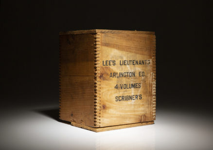 The Arlington Edition of Lee's Lieutenants by Douglas Southhall Freeman, in publishers dust jackets and shipping crate.