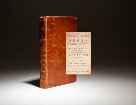First edition of An Alphabetical Compendium of the Various Sects by Hannah Adams, published in 1784