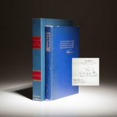 The limited edition of Mr. President, inscribed by President Harry S. Truman to Secretary Gordon Gray.