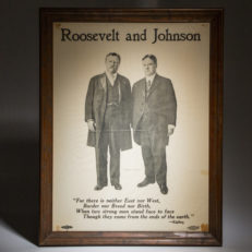 Roosevelt and Johnson, Progressive Party, Bull Moose Party campaign Poster. Poster is from the 1912 Election.
