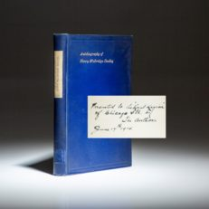 Inscribed copy of The Autobiography of Henry Walbridge Dudley, signed by the author