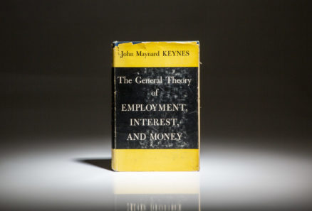 First edition of The General Theory of Employment, Interest and Money by John Maynard Keynes.