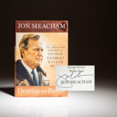 Signed first edition, first printing of Destiny and Power by Jon Meacham
