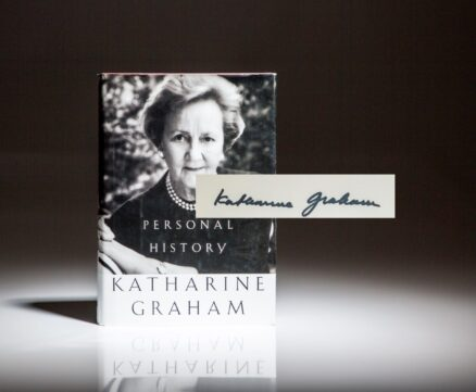 Signed first edition, first printing of Personal History by Katherine Graham.