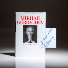 First edition of Memoirs, signed by Mikhail Gorbachev and his wife, Raisa Gorbachev