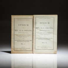Two pamphlets by Revered N.G. Collins on the Intellectual Condition of the South compared with the North and its bearing on the present rebellion