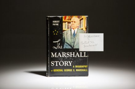 First edition of The Marshall Story by Robert Payne, inscribed by George C. Marshall