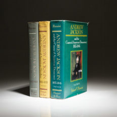 The complete three-volume set of Andrew Jackson by historian Robert V. Remini, all first printings.