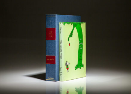 The first edition, first printing of The Giving Tree by Shel Silverstein, in first state dust jacket