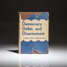 First edition of Democracy Debts and Disarmament by Walton Newbold