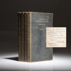 Inscribed copy of Cases on Constitutional Law by President William Howard Taft