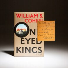 Signed first edition of One-Eyed Kings by William S. Cohen, inscribed to fellow Senator Larry Pressler
