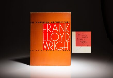 Signed first edition of An American Architecture by Frank Lloyd Wright.
