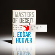 Masters of Deceit, signed by FBI Director J. Edgar Hoover.