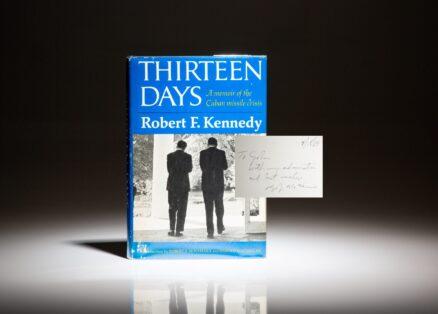 First edition of Thirteen Days: A Memoir of the Cuban Missile Crisis, signed by Secretary of Defense Robert McNamara