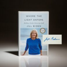 Signed first edition, first printing of Where The Light Enters by Jill Biden.