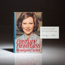 Limited edition of First Lady From Plains, signed by Rosalynn Carter.