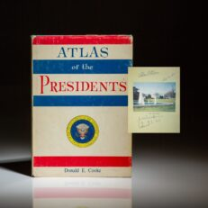 Atlas of the Presidents, signed by President Richard Nixon and Pat Nixon.