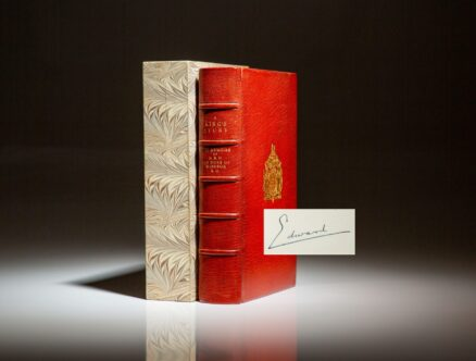 Deluxe limited edition of A King's Story by H.R.H. the Duke of Windsor, signed on the limitation page.
