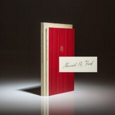 Deluxe limited edition of the Churchill Lecture, signed by President Gerald R. Ford.