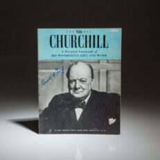 First edition of Mr. Churchill: A Pictorial Cavalcade of his Wonderful Life and Work, signed by an admirer, President Gerald R. Ford.