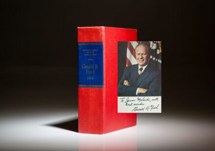The Public Papers of President Gerald R. Ford for 1974, inscribed by President Ford.