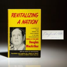Signed first edition of Revitalizing A Nation by General Douglas MacArthur.