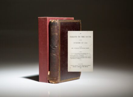 First edition of Reverend William Wyndham Malet's, An Errand To The South In The Summer of 1862, published in London.