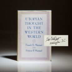 Utopian Thought In The Western World, signed by Clare Boothe Luce to William Safire of the New York Times.