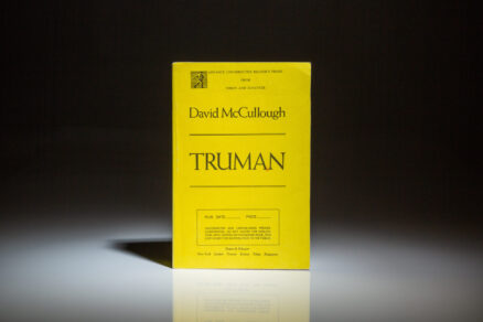 An Advance Reader's Proof Copy of Truman by David McCullough.